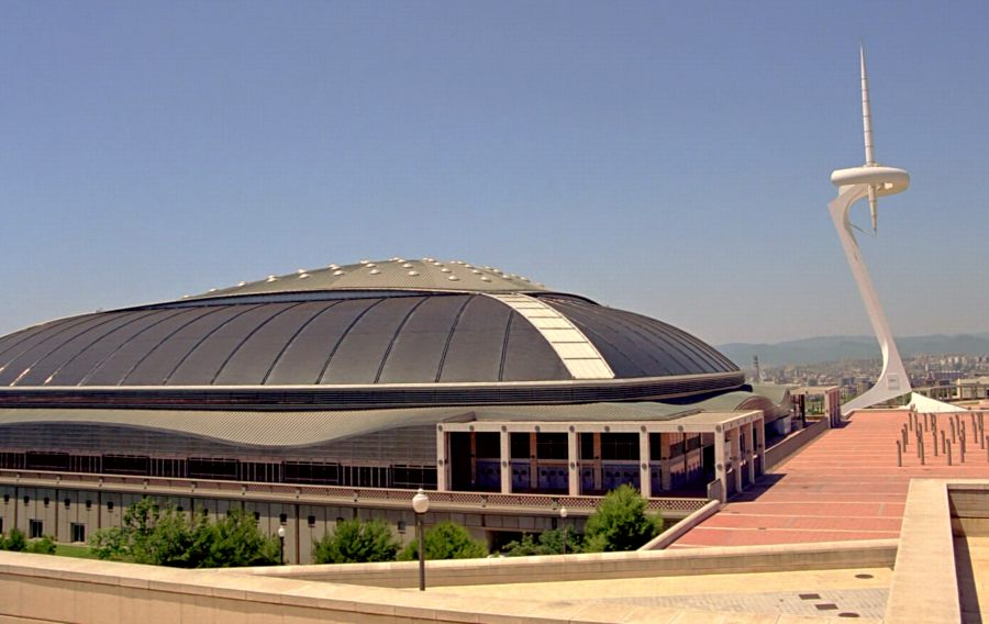 This image has an empty alt attribute; its file name is Barcelona-Olympic-Park-Sports-Hall.jpg